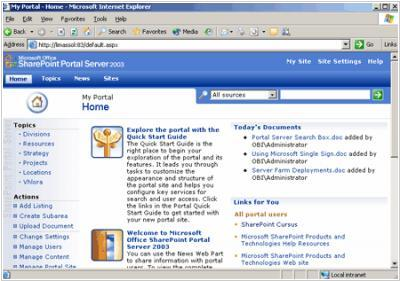 Sharepoint Portal Server 2003 becomes a part of MS Office