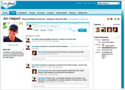 Salesforce created enterprise social platform