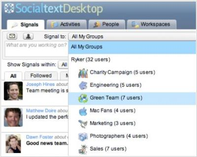 Socialtext 4.0 wisely copies Google Groups