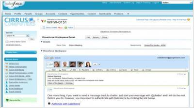 Salesforce Google Wave