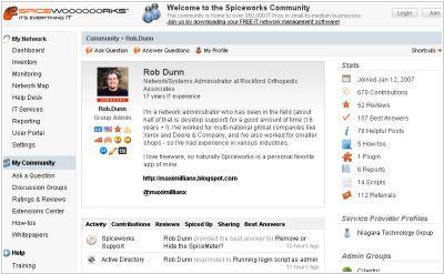 SpiceWorks combines Service Desk, online-community and Marketplace