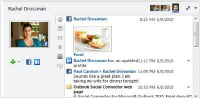Outlook Social Connector