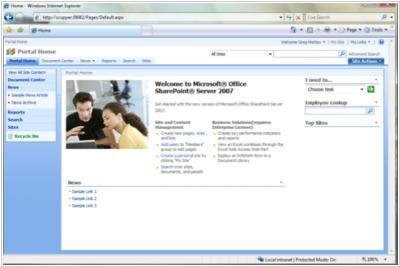 SharePoint 2007 improves content management, social tools, search, Outlook integration
