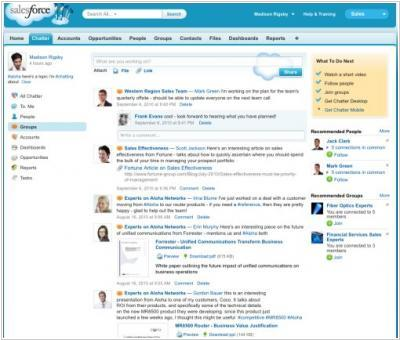 Salesforce Chatter goes freemium, retires Sharepoint and Lotus Notes