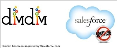 Salesforce acquired web-conferencing service DimDim