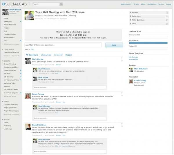 Socialcast: How to engage CEO into the Enterprise social network?