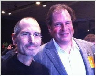 Mark Benioff and Steve Jobs