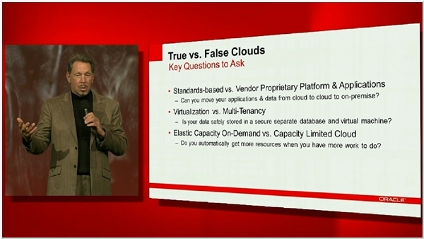 Larry Ellison False Cloud
