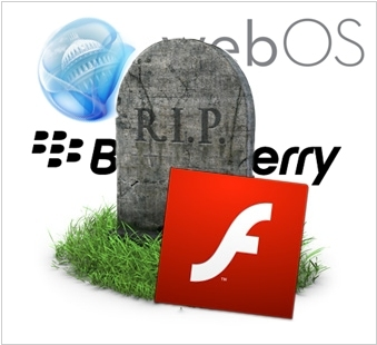 Adobe kills mobile Flash. Google kills GMail for Blackberry