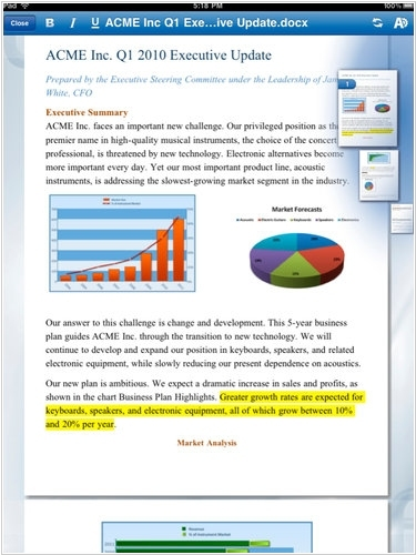 QuickOffice and Documents To Go allow to edit Word, Excel and PowerPoint on the iPad