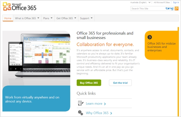 Microsoft updates Office 365 and SkyDrive. Adds new territories