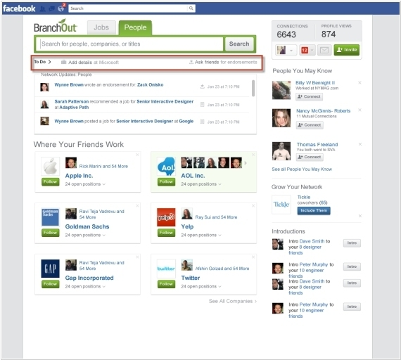 What is the professional social network #2 after LinkedIn?