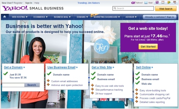 Yahoo! Small Business allows to monitor Social Web
