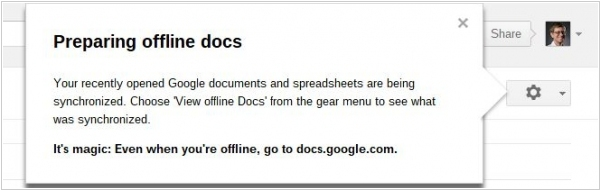 Google Docs - on its way to offline
