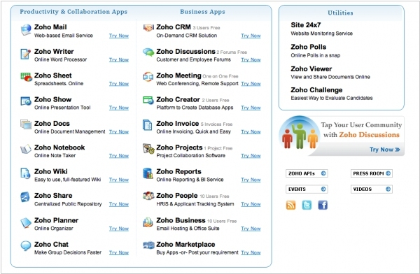 Zoho to close a number of services