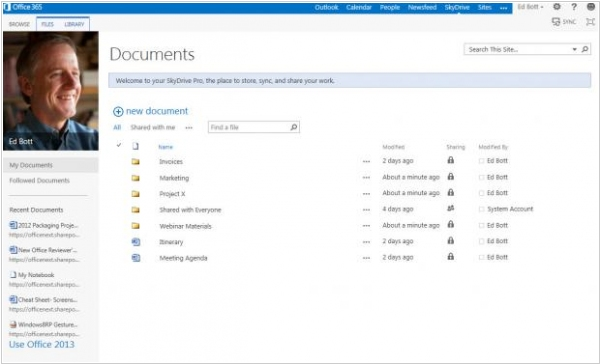 SharePoint 2013 will include SkyDrive Pro