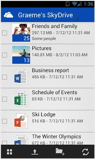 Microsoft launched SkyDrive for Android
