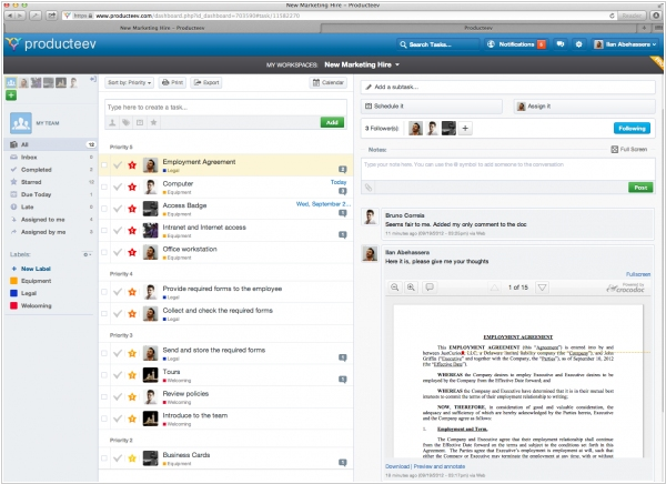 Producteev adds document collaboration feature