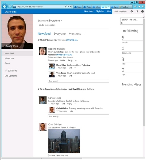 SharePoint 2013 will integrate Yammer, provide platform around the online version