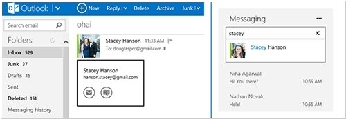 Outlook.com users will be able to chat with their Google contacts