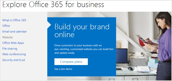Building a company website: Microsoft Office 365 vs SharePoint