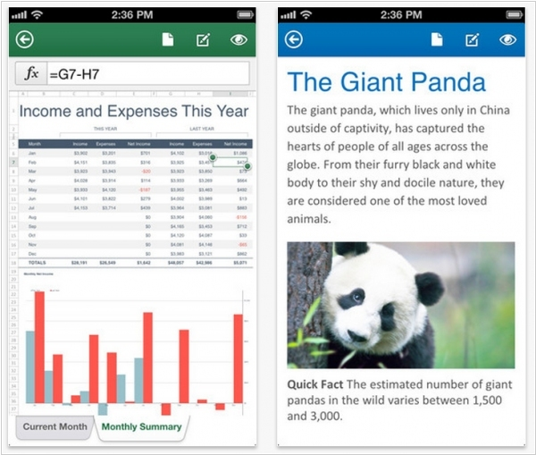 Microsoft released free Office for iPhone