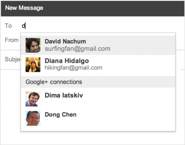 Google+ users now can send messages to your GMail inbox