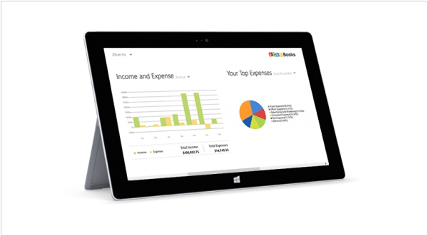 Zoho Books app for Windows 8.1 released