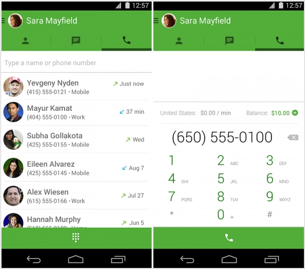 Google Hangouts adds voice calls to mobile app