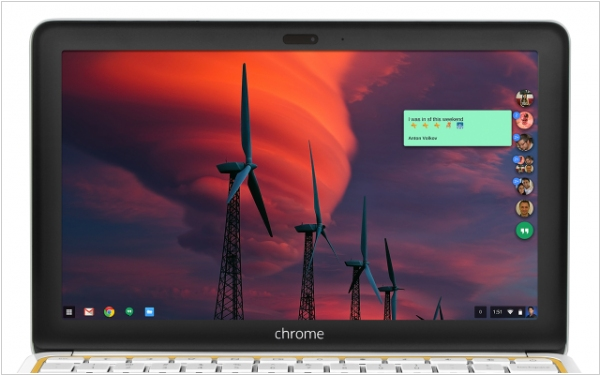 Google Hangouts is available as a standalone Chrome app for Windows and Chromebooks