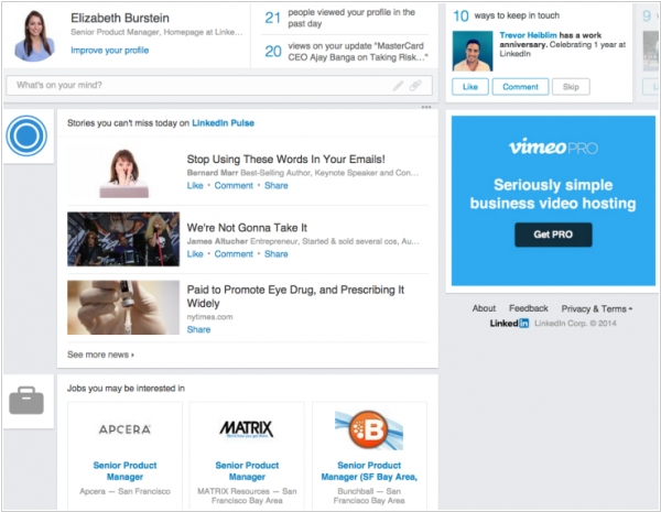 LinkedIn rolls out new Homepage with analytics and news front and center