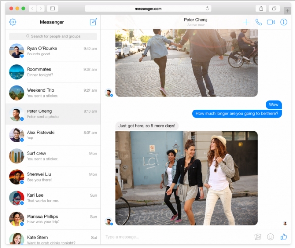 Facebook launched dedicated web interface for its Messenger