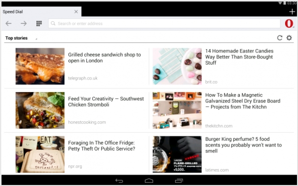 Opera redesigned Opera Mini for Android