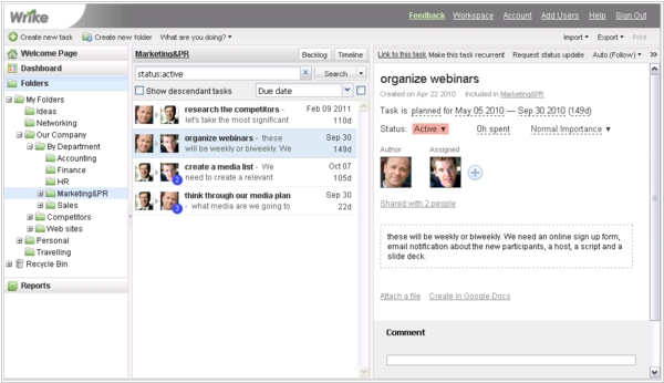 Project management service Wrike raised $15M