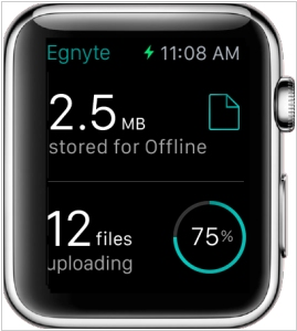 Enterprise file sharing app Egnyte comes to Apple Watch