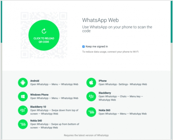 WhatsApp web client adds iOS support