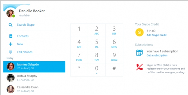Skype for Web now supports calling to mobile phones, landlines