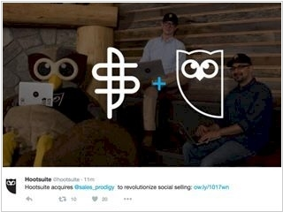 Hootsuite acquired social selling app Sales Prodigy