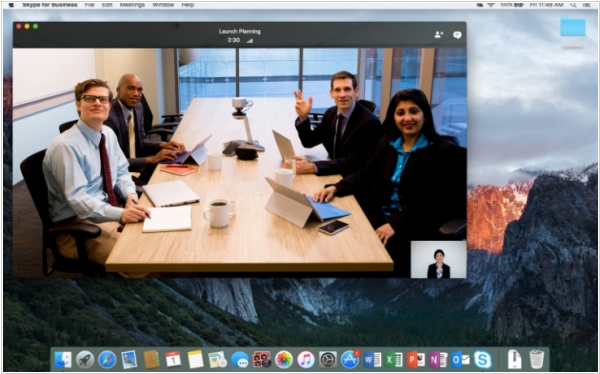 Skype for Business is available on Mac