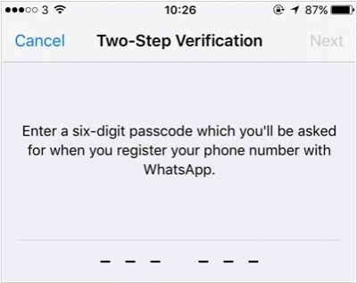 WhatsApp enabled two-factor authentication for everyone