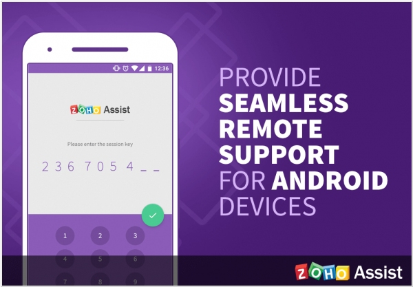 Zoho Assist now allows to remotely connect to Android devices