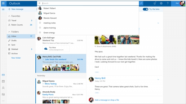 Microsoft launched faster and smarter Outlook.com