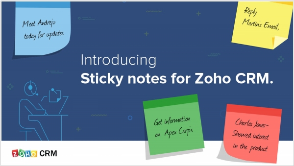 Zoho CRM gets sticky notes