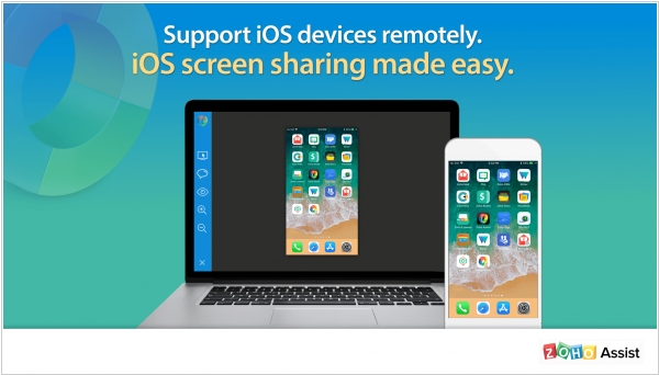 Zoho Assist enables iOS remote access