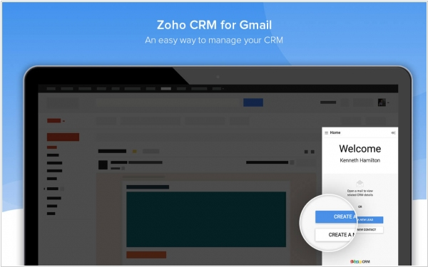 Zoho CRM gets a Chrome extension for Gmail