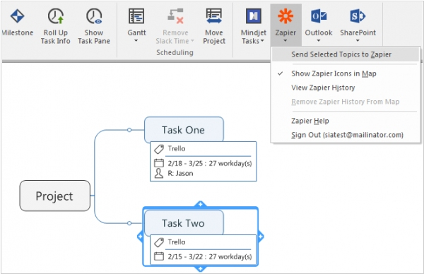 MindManager 2016 integrated with Office 365