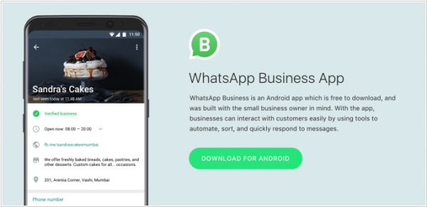 WhatsApp launches its app for business