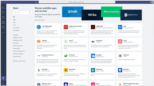 Microsoft Teams gets new app integrations and app store