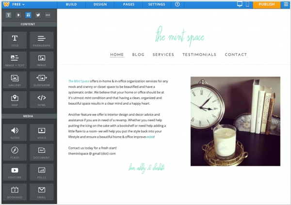 Weebly launched all-new Site Creator