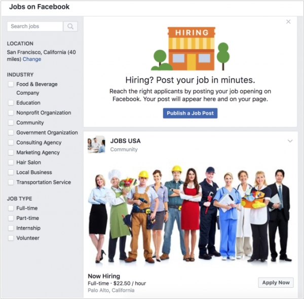 Facebook takes on LinkedIn with Job Posts